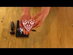 Quick Make - create an embossed heart card