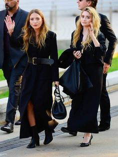 How to Style Maxi Coats Like the Olsen Twins | Who What Wear UK Olsen Twins Style, Maxi Coat, Long Trench Coat, Girls Rules, Winter Trends, Double Breasted Coat, Petite Women, Wide Leg Trousers, Who What Wear