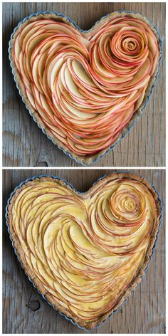 French Desserts & Pastries Recipes Valentine's Apple Rose Tart Article Physique: There isn't any dou Beaux Desserts, No Bake Desserts, Just Desserts, Delicious Desserts, Dessert Recipes, Yummy Food, Baking Desserts, Tart Recipes, Apple Recipes
