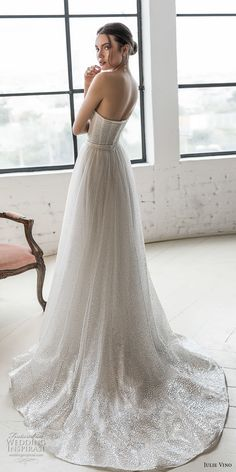 Romanzo by Julie Vino 2019 Wedding Dresses — The Love Story Bridal Collection The incredibly romantic 2019 Romanzo by Julie Vino bridal collection is filled ethereal looks that are adorned with the most feminine details! Bridal Dresses, Wedding Gowns, Reception Dresses, Dresses Dresses, Lace Wedding, Wedding Venues, Love Story Wedding, Julie, Bustiers