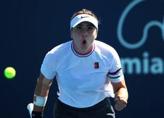 Teenager Andreescu pulls off great escape in Miami,, MIAMI: Canadian adolescent sensation Bianca Andreescu pulled of. Best Tennis Rackets, Jordan Thompson, Kim Clijsters, Steffi Graf, Pro Tennis, Tennis World, Match Point, Pull Off, Serena Williams