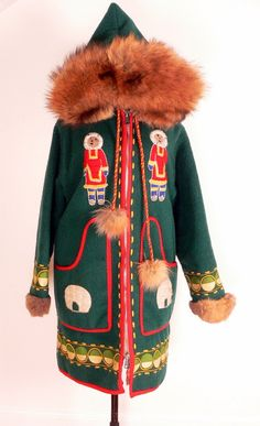 Posts about inuit eskimo written by D. Canada Goose Parka, Bespoke Clothing, Blanket Coat, Spring Couture, Green Coat, Coat Patterns, Vintage Coat, Coats For Women, Winter Outfits