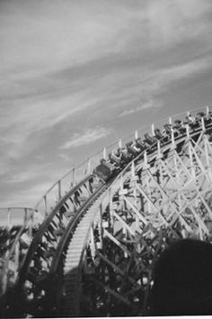 Rollercoaster. Black and white