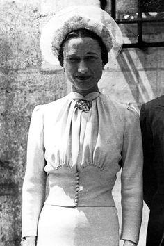 Wallis Simpson, la duchesse de Windsor, épouse Edouard VIII en 1937