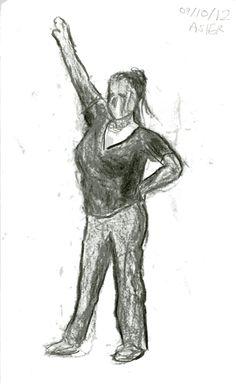 Dibujo del natural. Diferentes poses de figura. Asier Nazabal. 2012