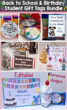 This money-saving bundle pack includes my best-selling editable Back to School Student Gift Tags plus my Birthday Certificates, Student Gift Tags, & Brag Tags which are also editable. You receive 15 different back to school gift tag designs plus 10 different birthday certificate & gift tag designs. I also included 2 birthday brag tags and a bonus bubbles birthday gift tag.