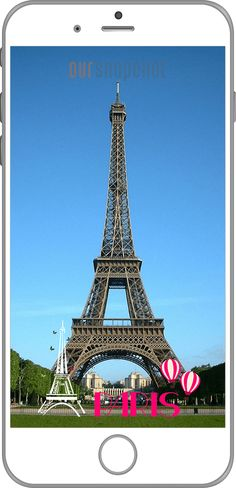 Paris, Eiffel Tower Snapchat Filter Template, Fun Design for a trip to France. Own location based Snapchat Filters for your trips. For more see here - https://www.oursnapchat.com/#order