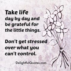 It's better to be #thankful for all the little things that I am still, able to do, rather than stress over so many #things that my body does not allow me to do, anymore! ~ #MaryLouCarr