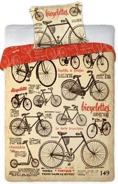 LINGE DE LIT PARURE HOUSSE DE COUETTE + TAIE DÉCO BICYCLETTES CHAMBRE ADOLESCENT in Maison, Literie, linge de lit, Linge de lit, ensembles | eBay