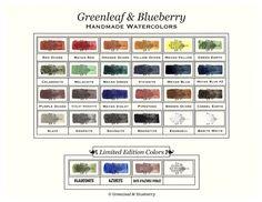 Greenleaf & Blueberry Color Chart