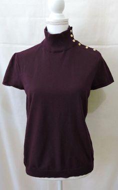 Chaps Women Purple Top Blouse Size XL #Chaps #Blouse