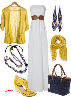 Navy and Mustard, created by jayneann1809 on Polyvore