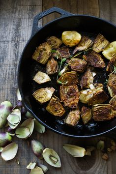 An amazing snack! Pan roasted baby artichokes with a delicious aoili ...