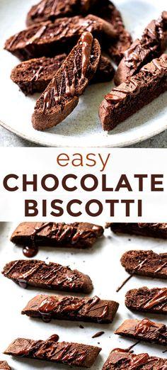 Double Chocolate Biscotti Recipe, Best Biscotti Recipe, Chocolate Cookies, Christmas Biscotti Recipe, Italian Biscotti Recipe, Lemon Biscotti, Biscotti Cookies, Almond Cookies, Ginger Cookies