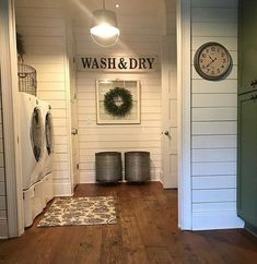Browse farmhouse laundry room ideas and decor inspiration. Discover designs for custom country laundry rooms and closets. farmhouse laundry room ideas and decor inspiration. Discover designs for . Laundry Room Remodel, Basement Laundry, Laundry In Bathroom, Small Laundry, Laundry Decor, Basement Bathroom, Laundry Room With Cabinets, Laundry Room Floors, Laundry Area