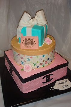 Chanel, LV, Tiffany, and Juicy Birthday Cake.