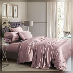 Buy raisin silk bed linen and duvet cover set online! Made of top quality mulberry silk, it offers all season comfort. Pink Bedding Set, Cheap Bed Sheets, Pink Bedding, Silk Bed Sheets, Bed, Duvet Cover Sets, Silk Duvet Cover, Luxury Bedding, Silk Bedding Set