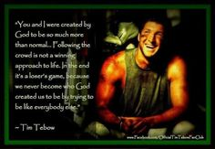 Tim Tebow inspirational quotation