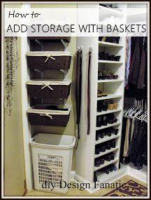 diy Design Fanatic: A Little More Organizing Coat closet idea***