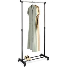 Whitmor Adjustable Garment Rack, Black and Chrome