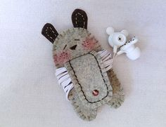 Freckles Rabbit with Tail Earphones Winder from Lily's Handmade - Desire 2 Handmade Gifts, Bags, Charms, Pouches, Cases, Purses by DaWanda.com