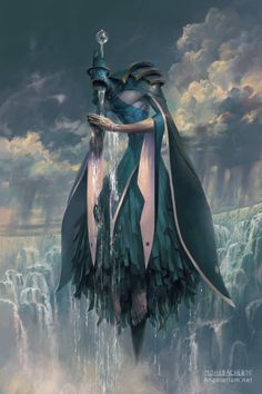 Matariel, Angel of Rain - Art by Peter Mohrbacher - Angelarium Fantasy Inspiration, Character Inspiration, Character Art, Fantasy World, Dark Fantasy, Peter Mohrbacher, Fantasy Kunst, Wow Art, Creature Concept