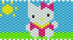 Hello Kitty Hearts Kandi Pattern