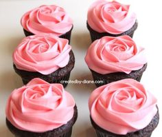 How to Frost A Rose On Cupcakes