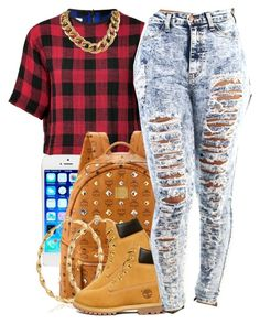 """""""nov. 23 2k14"""" by xo-beauty ❤ liked on Polyvore featuring rag & bone, MCM and Timberland"""