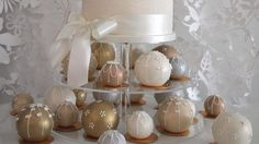 """""""We love the traditional story behind the Temari Cakes of them being inspired by the Japanese Temari Balls. These are said to bring good fortune and happiness to the lucky recipient which is a lovely sentiment to bring to a wedding day. We fell in love with their versatility and how creative you can be with them, making beautiful patterns and displays.""""Helen & Abby, Popcake Kitchen."""