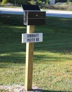Community prayer box - What a fantastic idea!! Prayer Wall, Prayer Box, Prayer Ideas, Winchester, Church Ministry, Ministry Ideas, Prayer Ministry, Youth Ministry, Prayer For Church