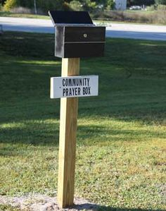 Community prayer box - What a fantastic idea!!