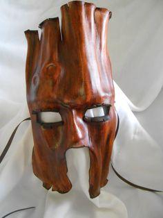Handmade Leather Mask - Tree Ent Bark Tones via Etsy