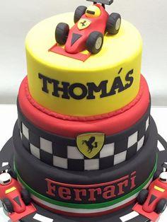 Bolo Ferrari Bolo Ferrari, Ferrari Cake, Ferrari Party, Car Themed Parties, Cars Birthday Parties, Birthday Celebration, Festa Hot Wheels, Baby Boy Birthday, Car Birthday