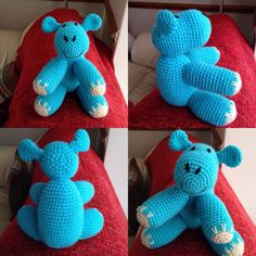Little turquoise blue hippo now also available.
