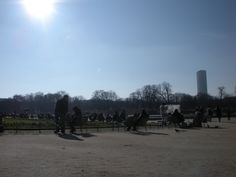 Banho de sol no Jardim de Luxemburgo
