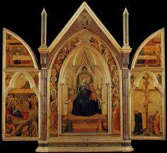 Bernardo Daddi, Trittico (parte superiore degli sportelli: episodi dalla vita di San Nicola di Bari)