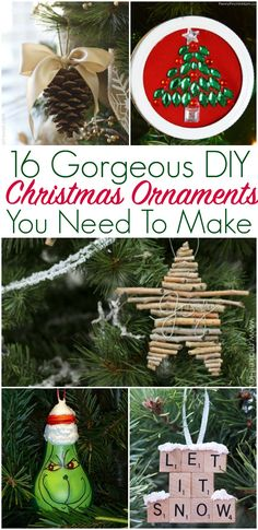 16 christmas ornaments you can make this weekend