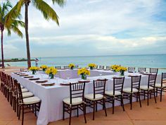 Intimate beach side reception  #GrandLucayan #YearOfYes
