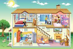 education illustration house cutaway, charlene chua illustrator