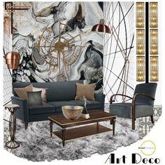 """Art Deco Set - Smart Furniture"" by szaboesz on Polyvore"