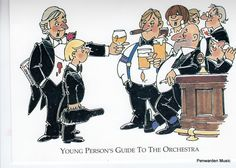 Joan Butler Classics Greeting Card - Young Person's Guide to the Orchestra Orchestra, Butler, Greeting Cards, Hilarious, Princess Zelda, Humor, Comics, Classic, Fictional Characters