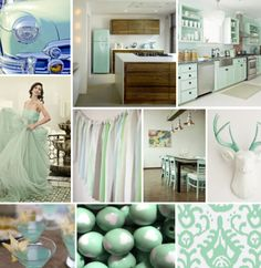 Mood Board Monday - Seafoam Green