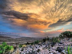 Today's sunset in Big Bend National Park, Texas - Imgur