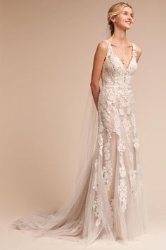 Ivory/champagne Monarch Gown   BHLDN