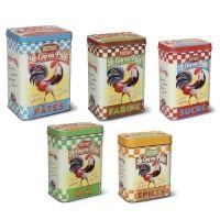 Juego de latas vintage Coq en pàte