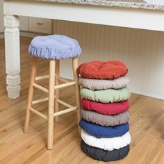 Linen Round Barstool Slipcover With Cushion 12 Inch Bar Stool Slipcover Bar