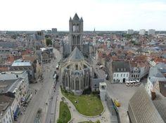 Panorámica de Gante desde lo alto de la Torre Belfort