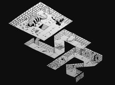 OSR logo. Dungeons and dragons  Dungeon crawl. Isometric