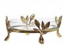 Laurel Glass Server Oval #dish #homedecor #partydecor #fallessentials #leaves #godinger